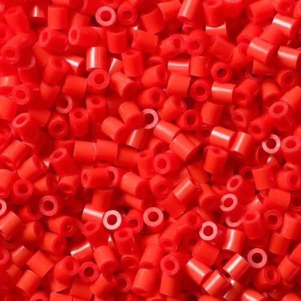 красные бусинки термомозаики hama