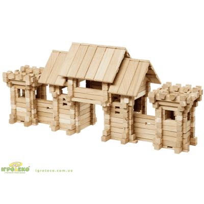 деревянный конструктор ворота замка