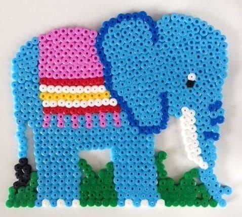 слон из термомозаики hama
