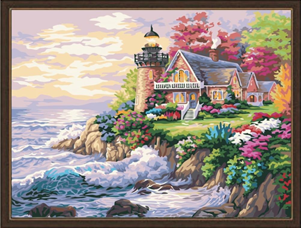 картина по номерам идейка домик у маяка 40 50 см