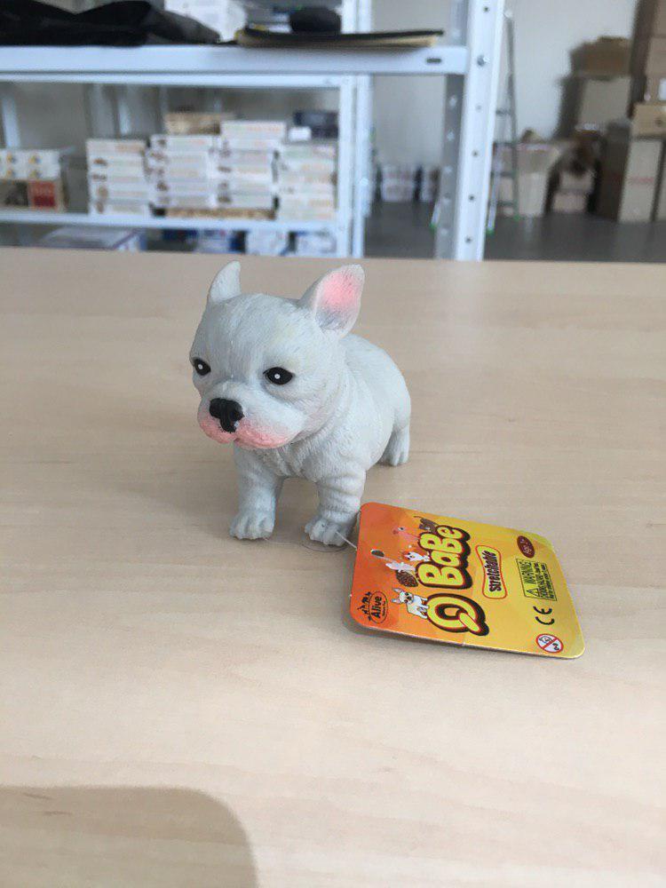 Заспокійлива іграшка собачка бульдог (сіра)