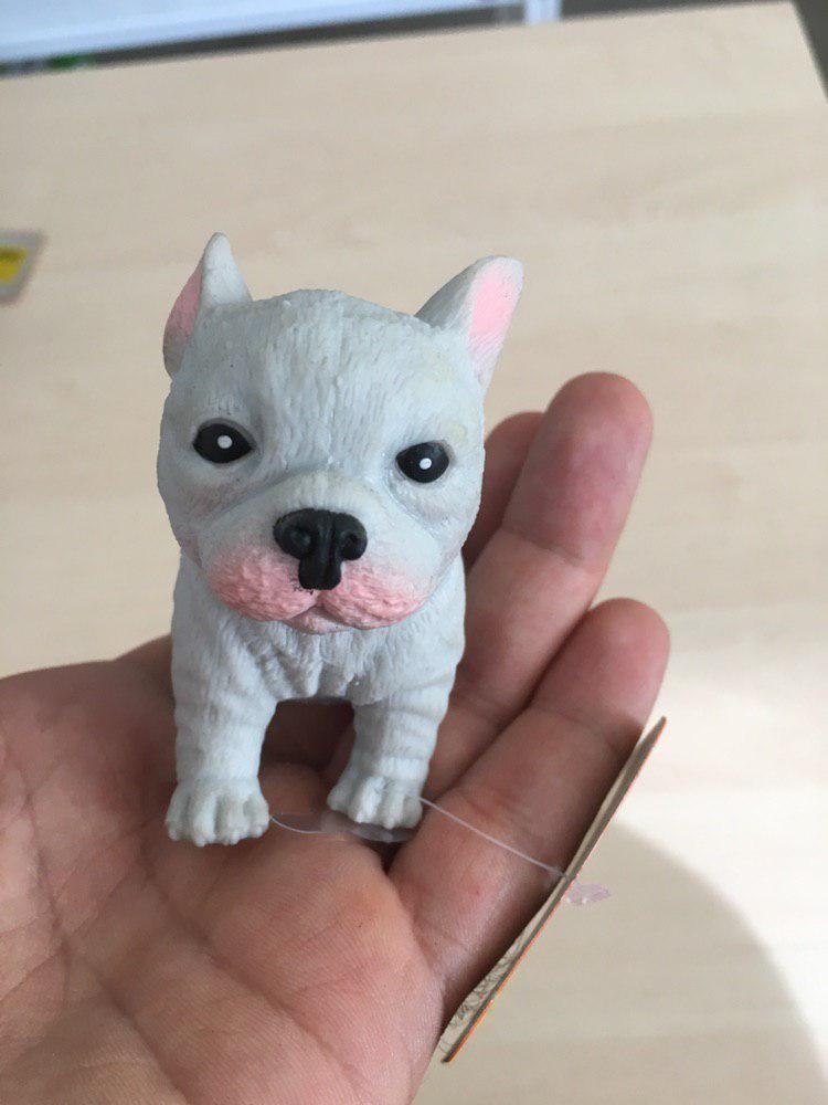 Антистрес іграшка собачка бульдог (сірий)