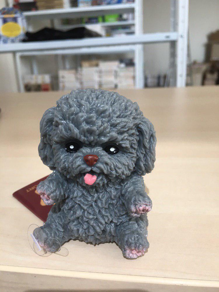 Собака антистресс (серый)