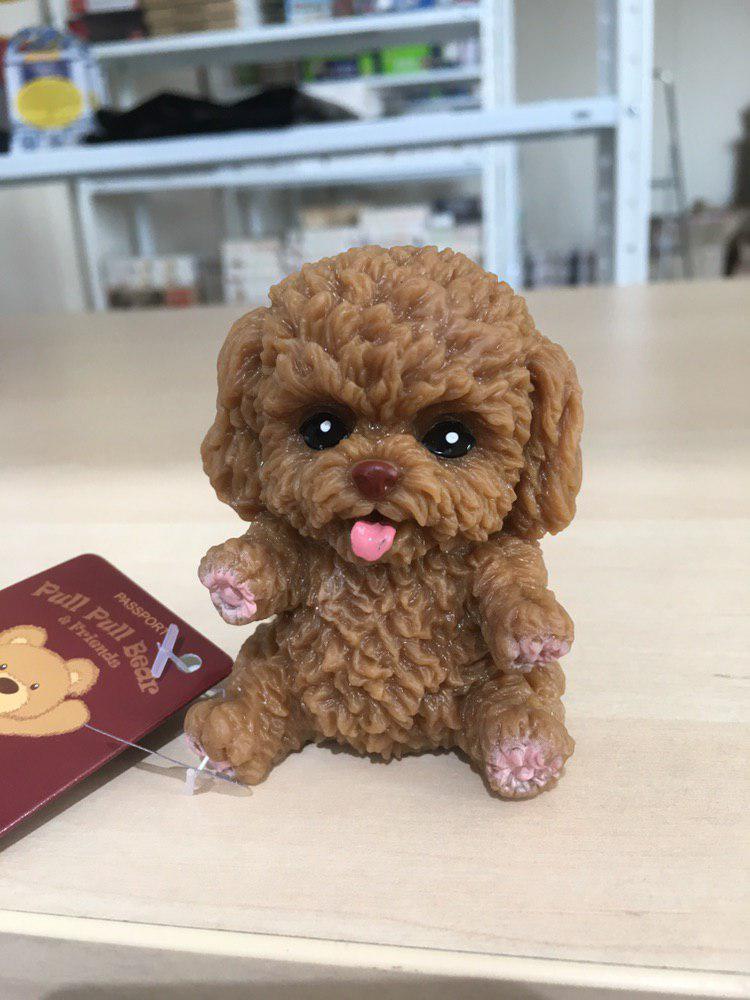 Собачка тянучка (коричневая)