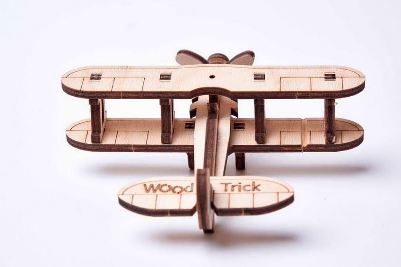 3D конструктор Wood Trick «Міні Літак»