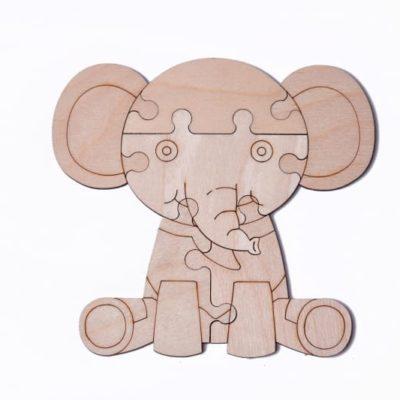 """3D пазл раскраска Wood Trick """"Слон"""""""