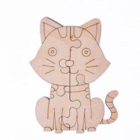 """пазл розмальовка  Wood Trick """"Кіт"""""""