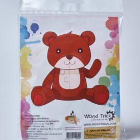 "3D пазл розмальовка Wood Trick ""Медведь"""