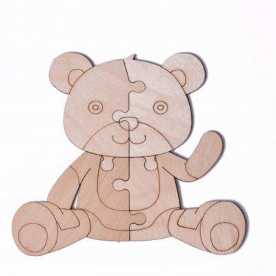 """3D пазл раскраска Wood Trick """"Медведь"""""""
