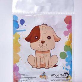 """3D пазл розмальовка Wood Trick """"Собачка №1"""