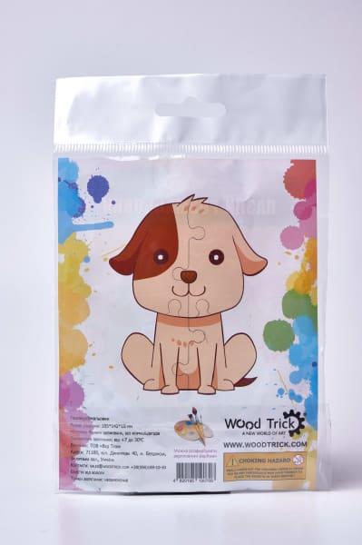 """3D пазл раскраска Wood Trick """"Собачка №1"""