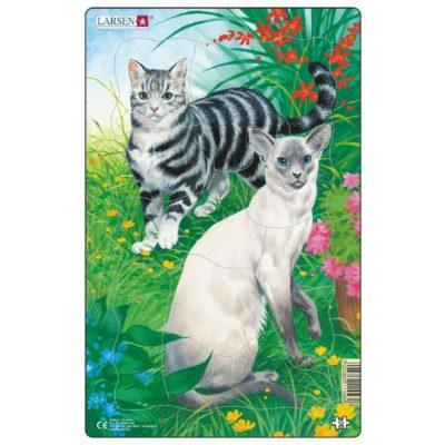 Пазл для дітей Larsen «Гладкі коти»