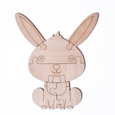 "3D пазл раскраска Wood Trick ""Зайчик"""