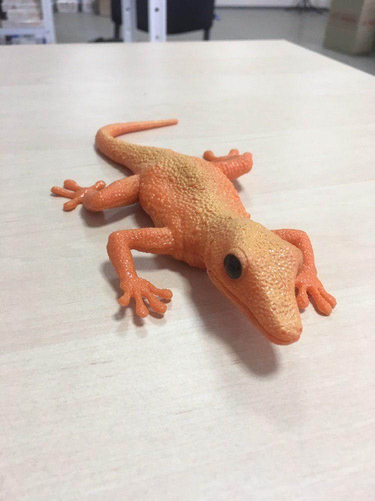 Мягкая игрушка для рук ящерица