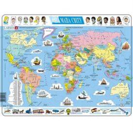 пазл для детей Larsen политическач карта мира