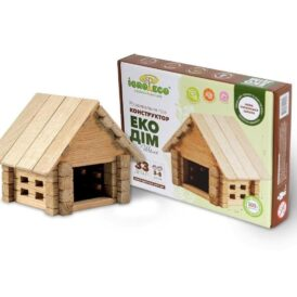 детский деревянный конструктор гараж