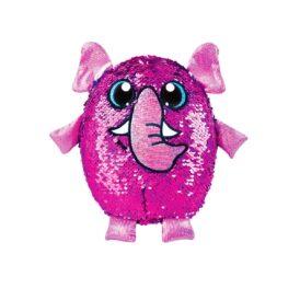 мягкая игрушка с пайетками розовый слон