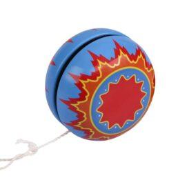 йо йо в металлическом корпусе голубое