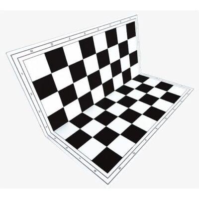 чорная пластиковая доска для шахмат