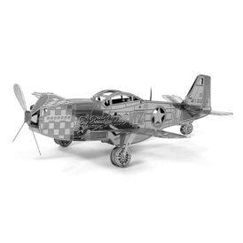 металлический 3д конструктор истребителя P-51 Мустанг