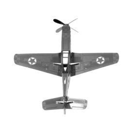 металевий 3д конструктор винищувача P-51 Мустанг зверху