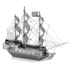 металлический 3д конструктор корабля черная жемчужина