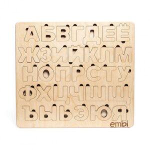 Деревянный пазл русского алфавита