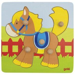 Пазл вкладыш для детей лошадка