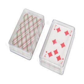 колода карт в пластиковом футляре с бубной