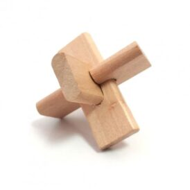 деревянная мини головоломка крест