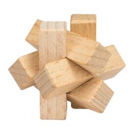 деревянная мини головоломка узел