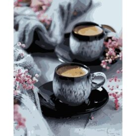 картина по номерам кофе