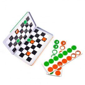 Магнитная дорожная игра шашки