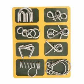 Набір із 8 металевих головоломок