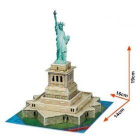 розміри картонного ЗD конструктора статуї свободи