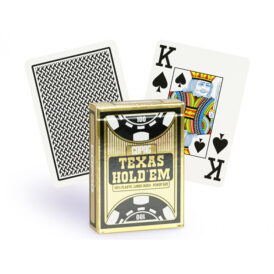 карти для покеру Copag Texas Hold 'Em Poker Jumbo Index чорні