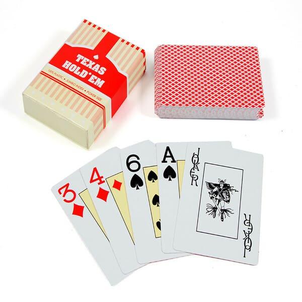 Карти для покеру Texas Hold'em (червоні)4