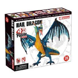 3D пазл от 4D Master Дракон Ледяной, 26 деталей (4)