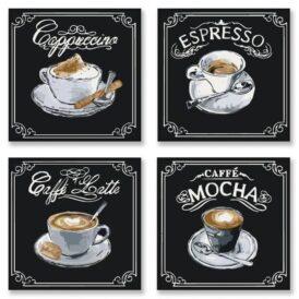Полиптих Вкусный кофе KNP001 (1)