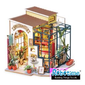 Міні-інтер'єрна модель ручної роботи Robotime Крамниця квітів (DG145) (2)