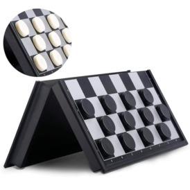 Магнитный набор 3 в 1 шашки, шахматы, нарды (25х25 см)4