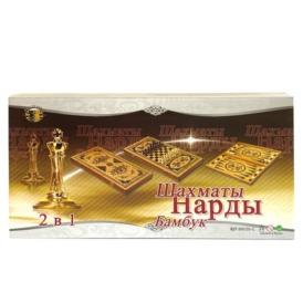 Набор бамбуковые нарды и шахматы 2 в 1 (50 см) (1)
