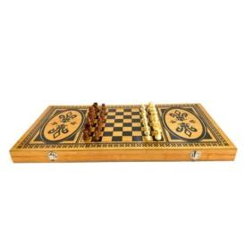 Набор бамбуковые нарды и шахматы 2 в 1 (50 см) (4)