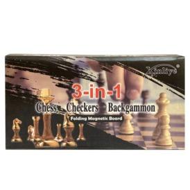 Набор шахматы, шашки, нарды 3 в 1 (40 см) (1)