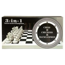 Набор шахматы, шашки, нарды 3 в 1 (48 см) (1)