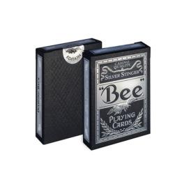Игральные карты для покера Bee Silver Stinger1