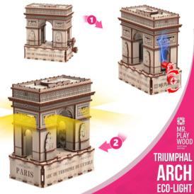 3D конструктор Mr. Playwood Тріумфальна арка Еко-лайт (180 деталей)3