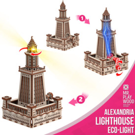 3D конструктор Mr. Playwood Александрийский маяк Эко-лайт (280 деталей)3
