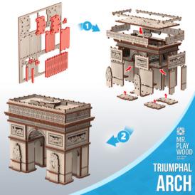 3D конструктор Mr. Playwood Тріумфальна арка (96 деталей)2