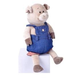 Мягкая игрушка Same Toy Поросенок в джинсовом комбинезоне 1